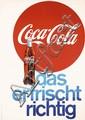 Old Original 1950s Coca Cola Advertising Poster
