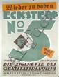 RARE Original 1920s German Typography Cigarette Poster