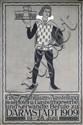 Original German 1900s Hotel Darmstadt Art Poster Plakat