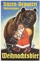 Original 1950s German Christmas Beer Poster