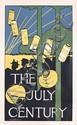 ORIG 1890s Art Nouveau JULY CENTURY Newspaper Poster