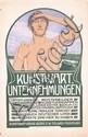 Old Original 1900s Traditional German Art Poster Plakat