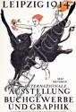 Original 1914 Tiemann Book Fair Leipzig Design Poster