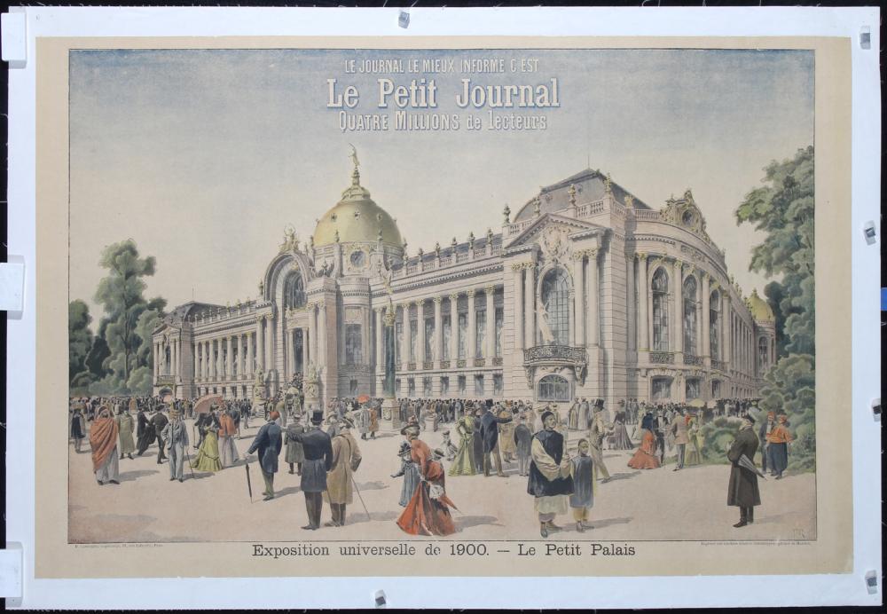 Original Vintage 1900 Paris Expo World's Fair Poster