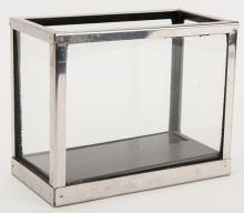 Aquarium. New Haven: Petrie and Lewis (P&L), ca. 1949. A small rectangular aquarium full of water instantly fills with goldfish. 7 ½ x 4 x 6