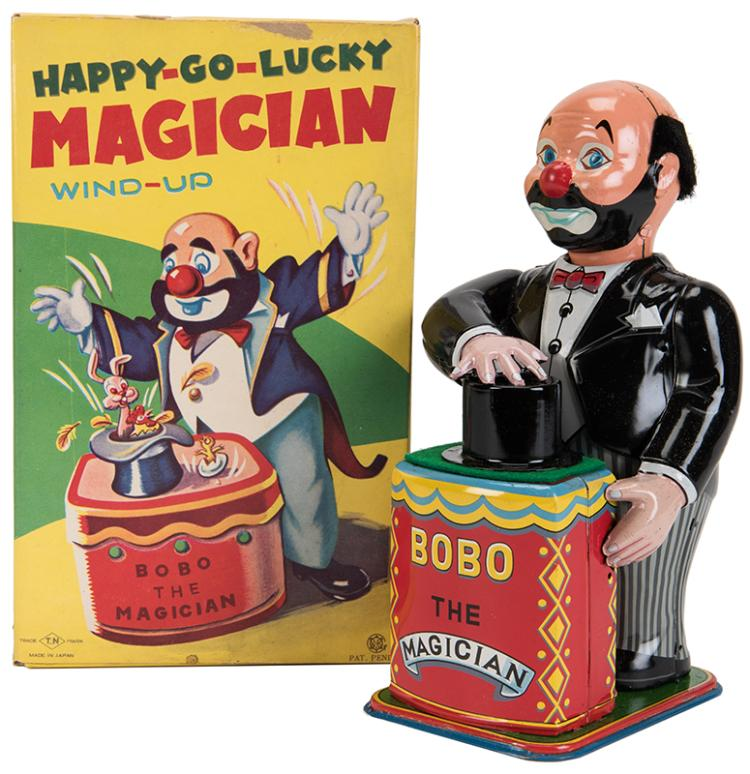 t n happy go lucky magician wind up toy bobo the magician. Black Bedroom Furniture Sets. Home Design Ideas