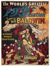 BALDWIN, SAMRI (SAMUEL SPENCER BALDWIN). The World's Greatest Psychic Sensation. Samri S. and Miss Baldwin. In Oriental Hypnotic Dream Visions. The White Mahatmas.