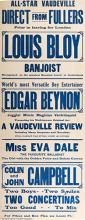 BENYON, EDGAR. World's Most Versatile Boy Entertainer. Edgar Benyon.