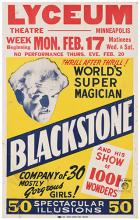 BLACKSTONE, HARRY (HENRY BOUGHTON). Thrill After Thrill! World's Super Magician. Blackstone.