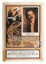 BRUSH, EDWIN. Two Edwin Brush Window Cards.