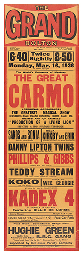 CARMO (HARRY CAMERON). The World's Colossus of Mystery. The Great Carmo.