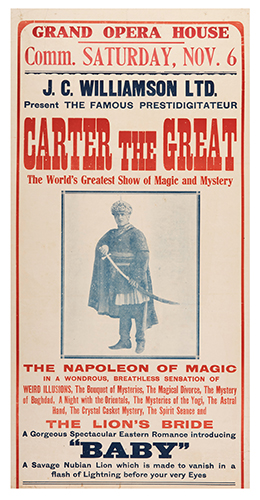 Carter, Charles. Carter the Great. The Napoleon of Magic.