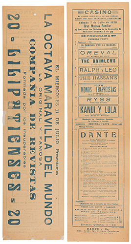 DANTE (HARRY AUGUST JANSEN). Dante Casino Music Hall Broadside.