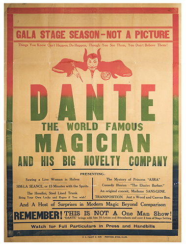 Dante (Jack ANGUS). Dante the World Famous Magician and His Big Novelty Company.