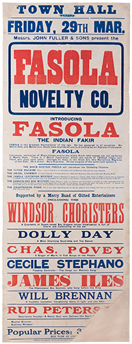 Fasola, Gustave (Fergus Greenwood). Fasola Novelty Co.