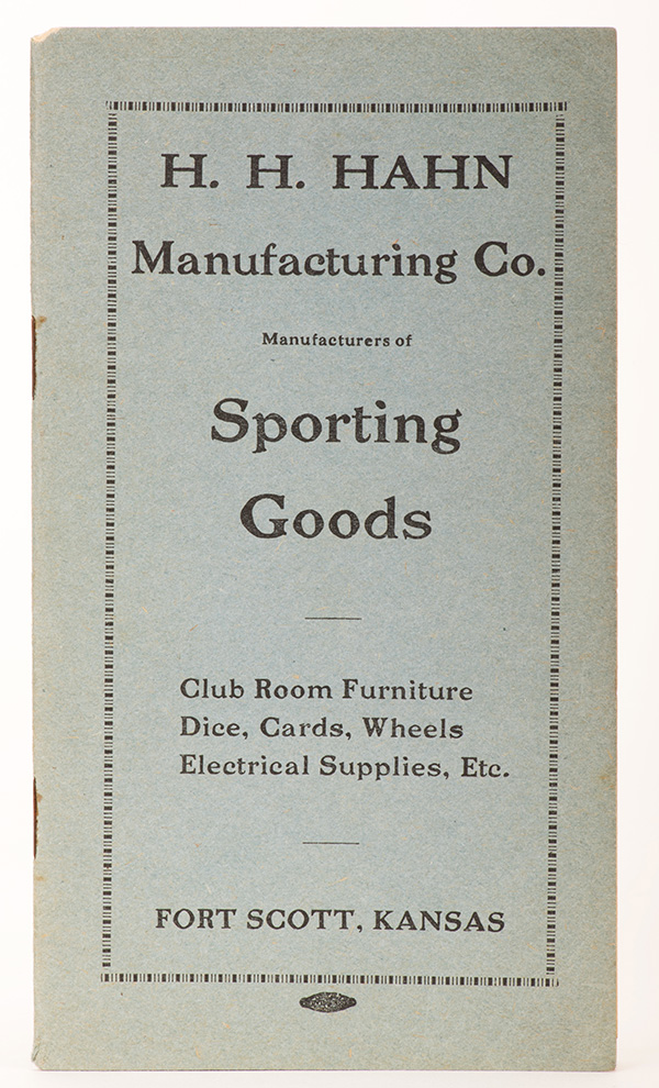 H.H. Hahn Manufacturing Co. Manufacturers of Sporting Goods.