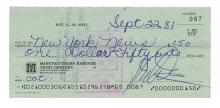 Roy De Meo Signed Personal Check.