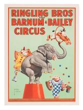Ringling Bros. and Barnum & Bailey Circus. Monkeys and Elephant.