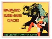 Ringling Bros. and Barnum & Bailey Circus. Elephant and Drum Majorette.