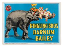 Ringling Bros. and Barnum & Bailey Circus. Elephant and Clown.
