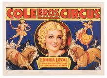 Cole Brothers Circus. Edmida Loyal.