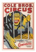 Cole Brothers Circus. WorldÍs Largest Chimpanzee. TarzanÍs Chum.