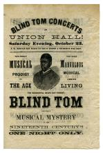 Blind Tom Concerts at Union Hall. Musical Prodigy of the Age.