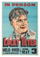 Lucky Teter. Daredevil / Stunt Driver Auto Racing Poster.