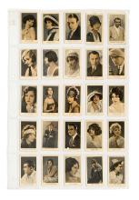 Collection of 150 Godfrey Phillips Cinema Stars and Beauties Cigarette Cards.