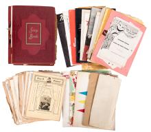 Outstanding Scrapbook of Theatrical Playbills and Photos Signed by 1950s Actors, Actresses, and Playwrights.