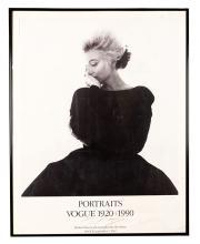 Marilyn Monroe ñVogue Portraits 1920?1990î Exhibition Poster Signed by Bert Stern.