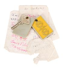 A Collection of Personal Items from a 1969 Stay by Hendrix at a Toronto Hotel.