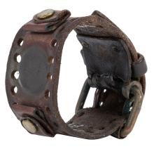 Jimi Hendrix Personally-Owned Leather Watch Band. Larry Lee Estate.