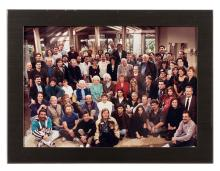 Group Photo of Cast and Crew of The Golden Girls.