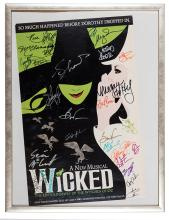 Cast Signed Window Card from Wicked.