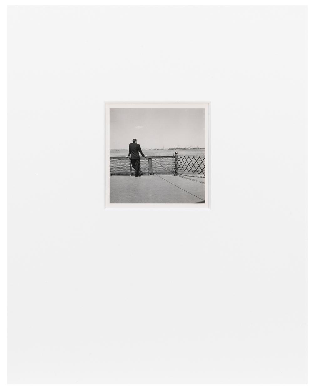 MAIER, VIVIAN (AMERICAN, 1926–2009). UNTITLED, [MAN ON FERR...