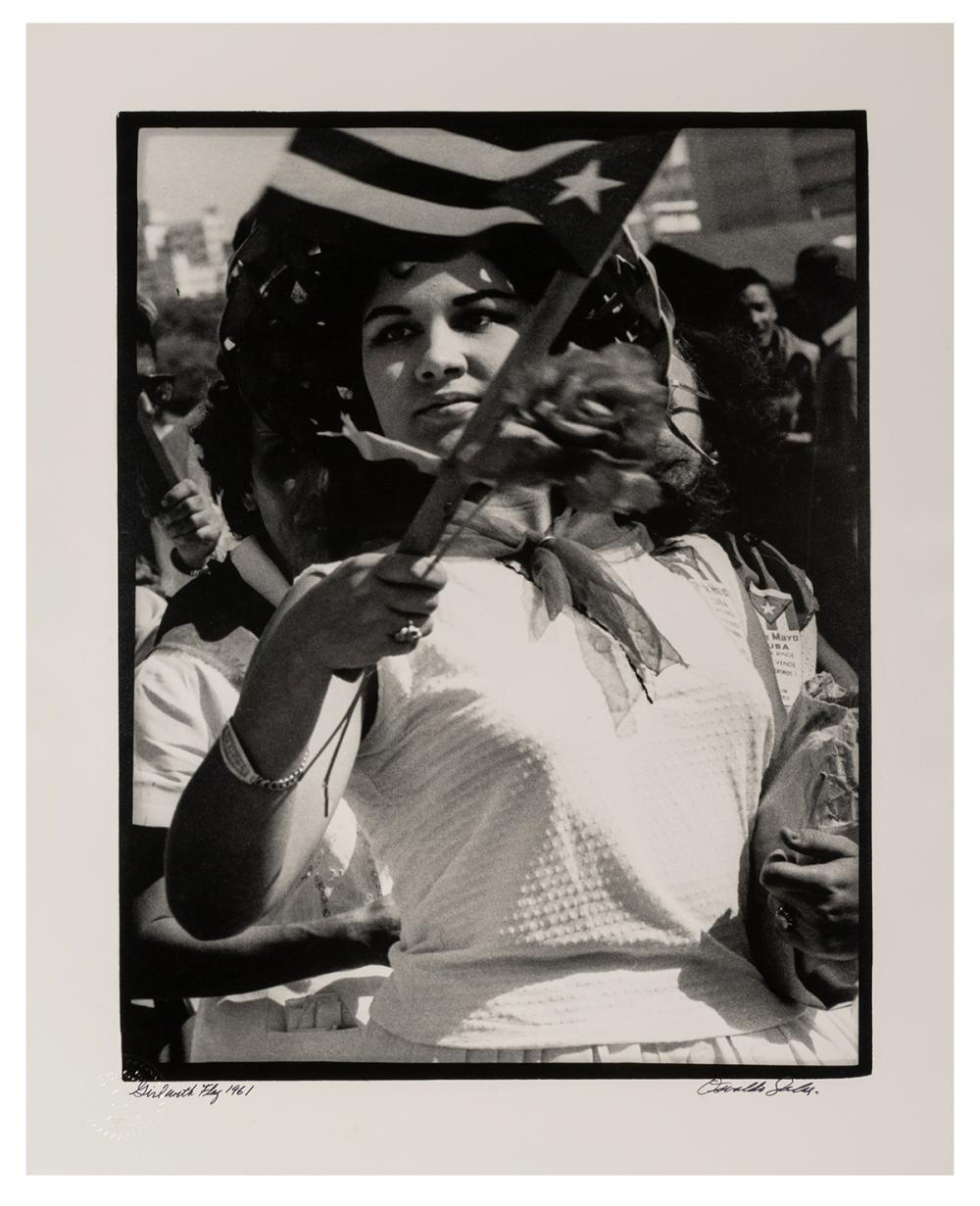 SALAS, OSVALDO (CUBAN, 1914-1992). GIRL WITH FLAG. HAVANA, ...