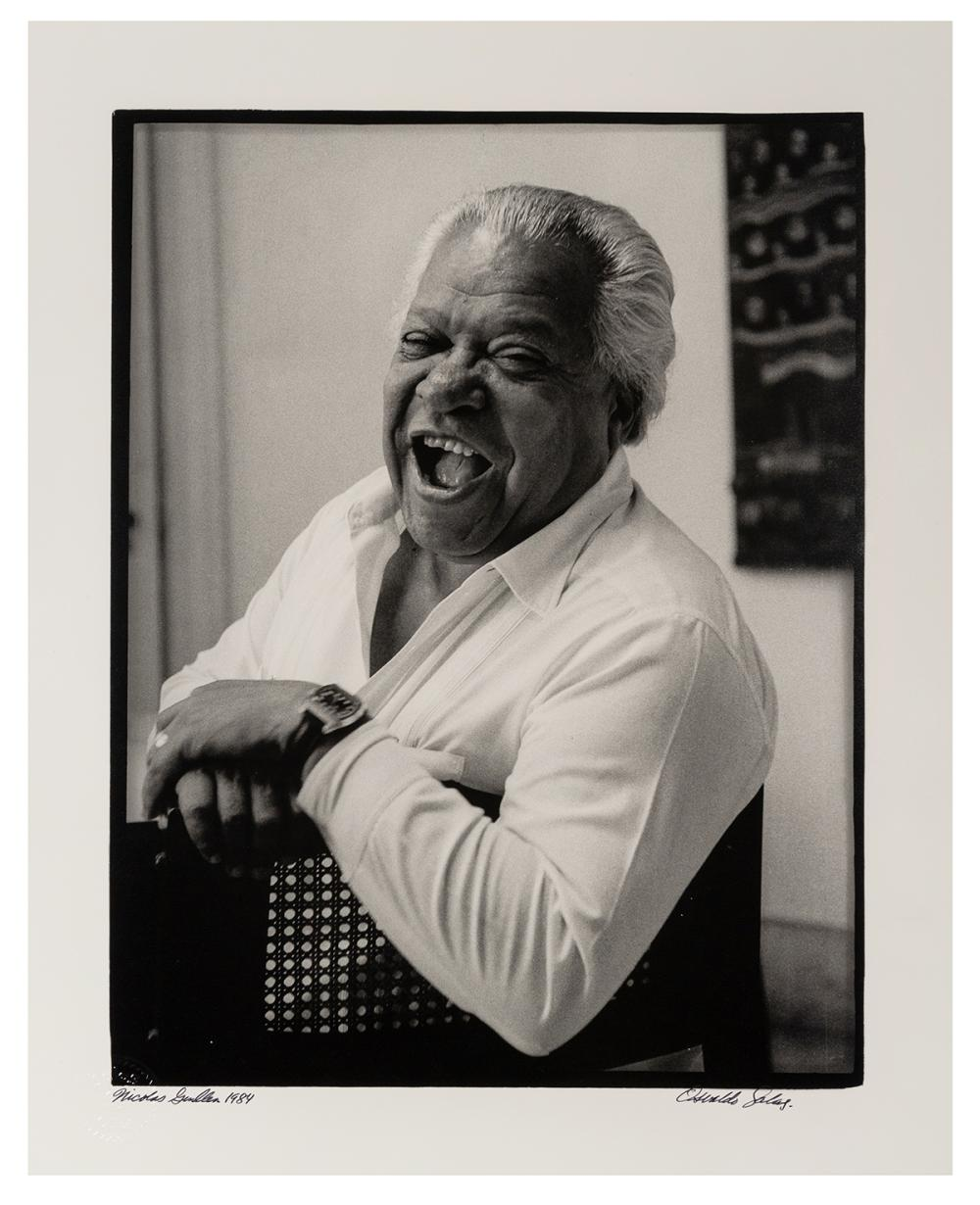 SALAS, OSVALDO (CUBAN, 1914-1992). NICOLAS GUILLEN. 1984. L...