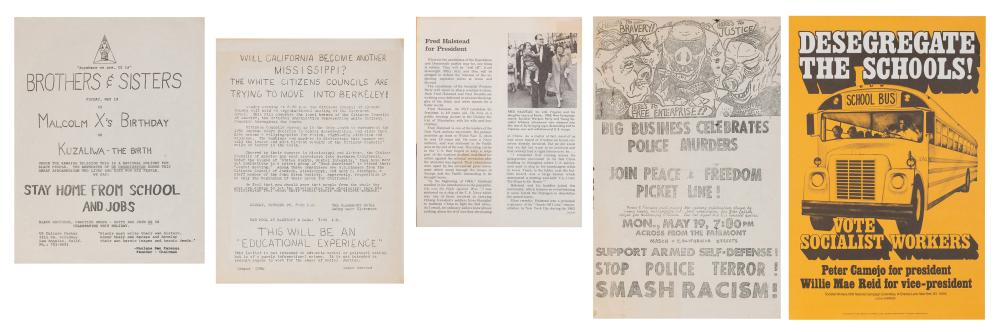 [CIVIL RIGHTS/ACTIVISM]. COLLECTION OF PROTEST, CIVIL RIGHT...