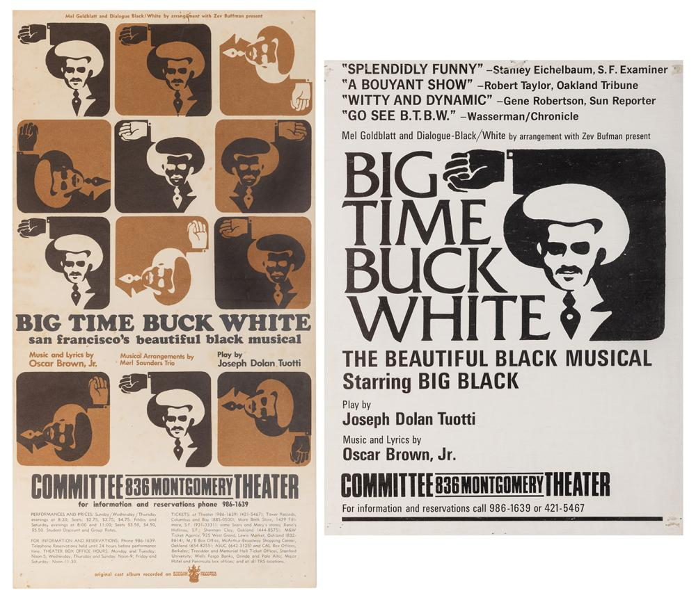 """[AFRICAN AMERICAN-MUSICAL THEATER]. PAIR OF """"BIG TIME BUCK ..."""