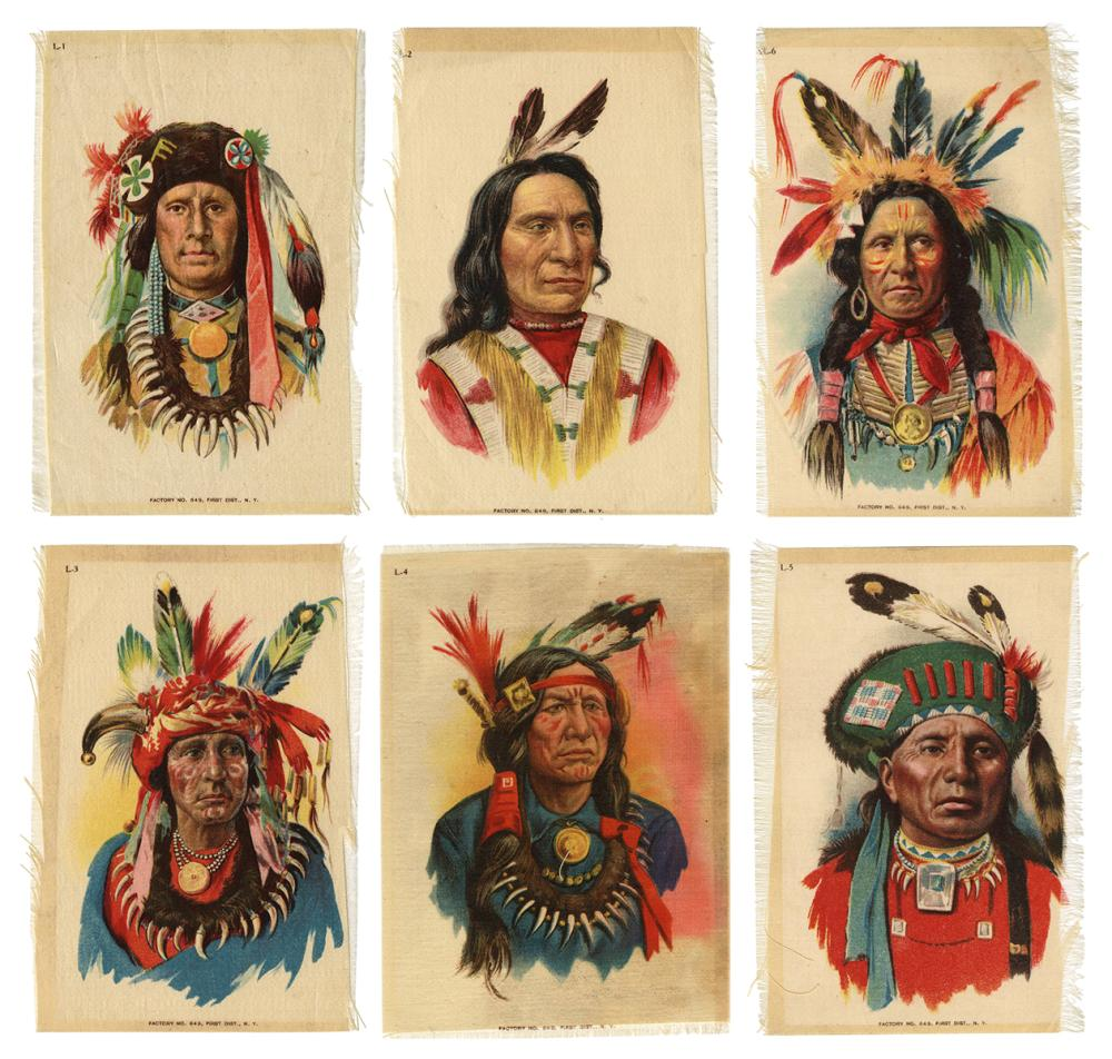 [AMERICAN INDIAN]. GROUP OF NATIVE AMERICAN TOBACCO CARDS A...