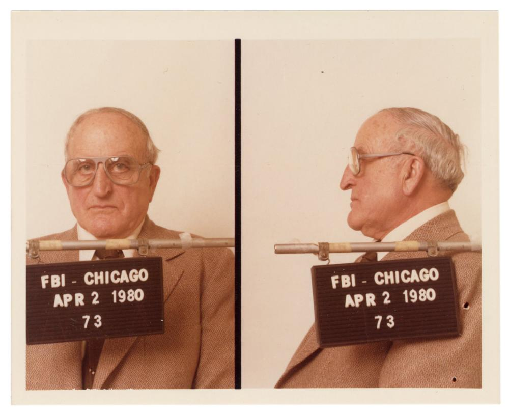 [CRIME]. A MUGSHOT PHOTOGRAPH OF A KNOWN CHICAGO MOB BOSS. ...