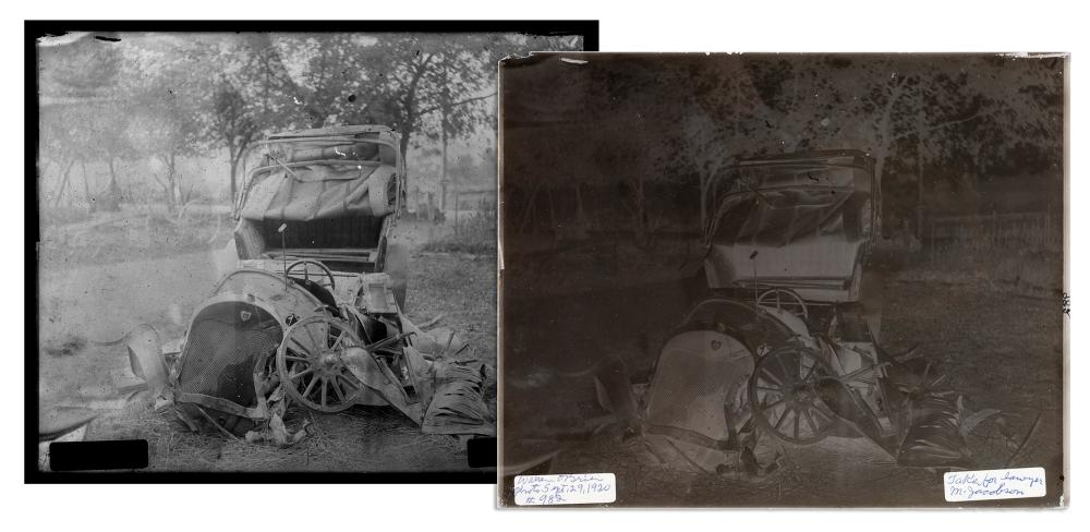 [AUTOMOBILES]. A GROUP OF EARLY AUTOMOBILE ACCIDENT PHOTOGR...