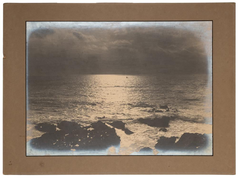 LARGE ANTIQUE SAILBOAT PHOTOGRAPH. N.P., LATE 19TH/EARLY 20...