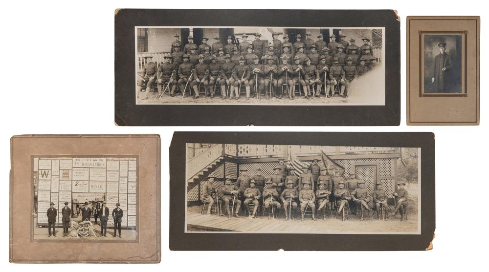 [OCCUPATIONAL]. A GROUP OF 9 PHOTOGRAPHS. INCLUDING: A LOG ...