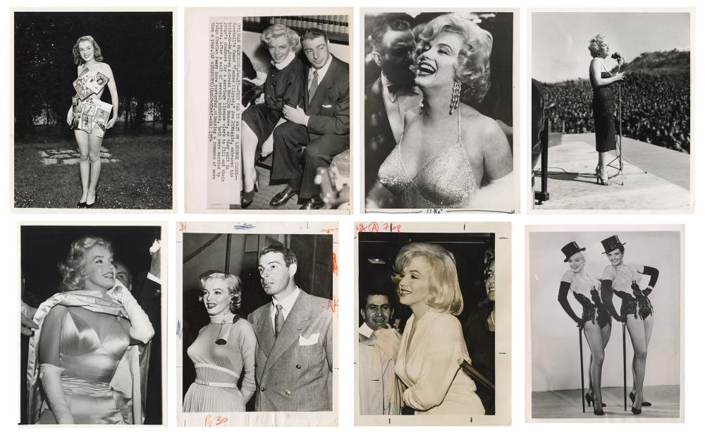 [MONROE, MARILYN (1926-1962)]. A GROUP OF 8 WIRE PHOTOGRAPH...