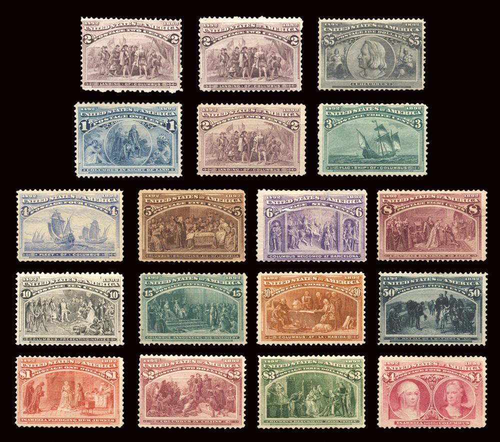 SCOTT #230-245. U.S. COLUMBIAN MINT SET. UNITED STATES, 189...