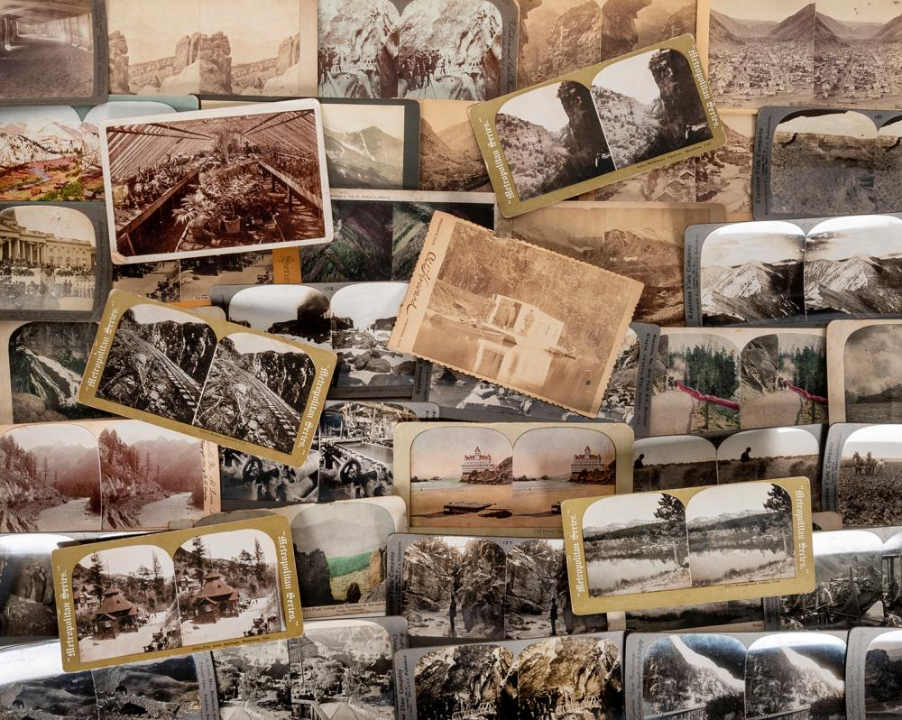 LOT OF OVER 100 STEREOVIEWS OF COLORADO AND OTHER LOCATIONS...