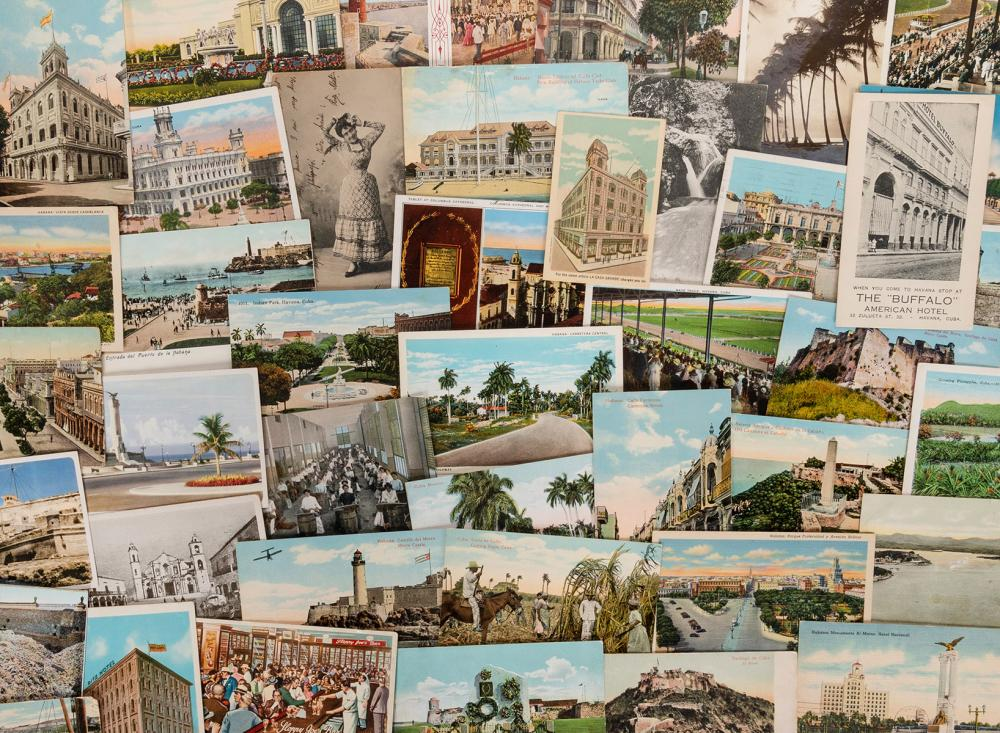 [CUBA]. COLLECTION OF CUBAN POSTCARDS. OVER 60 POSTCARDS OF...