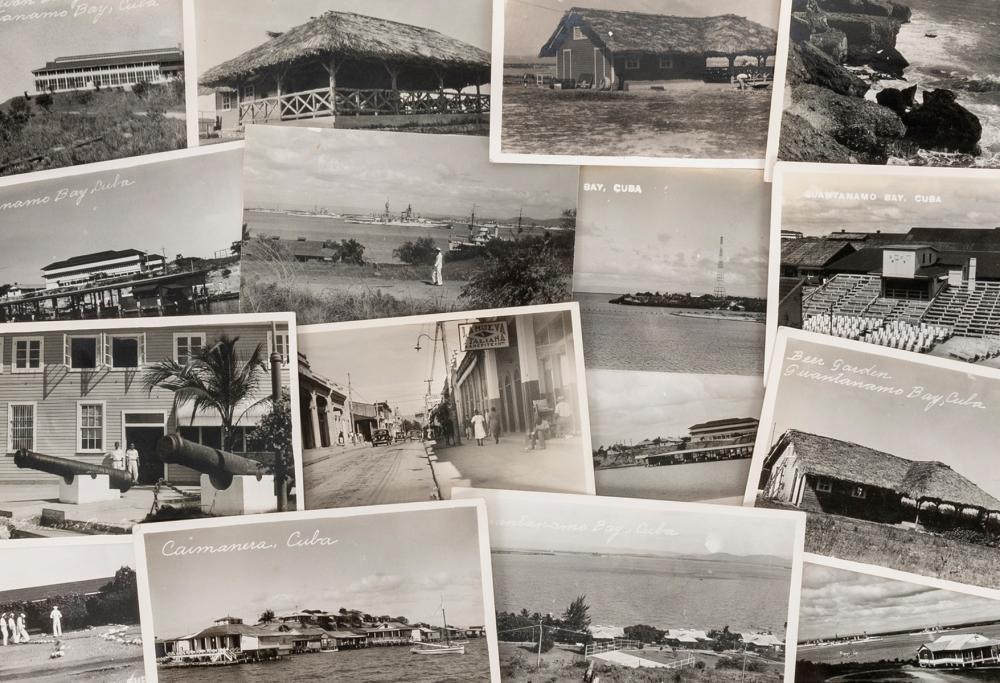 [GUANTANAMO BAY]. A GROUP OF 16 RPPCS. CIRCA 1930S. EACH CA...